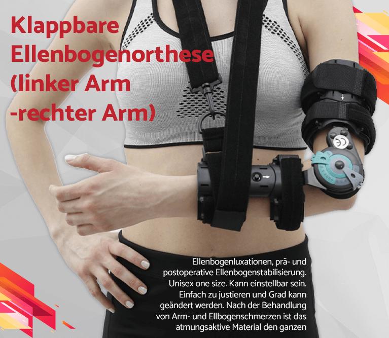 Klappbare Ellenbogenorthese (linker Arm-rechter Arm)