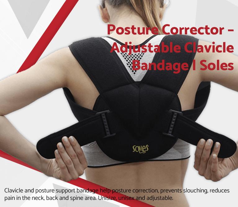 Posture Corrector – Adjustable Clavicle Bandage | Soles
